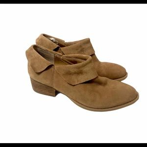 Crown Vintage 6 Tan Low Heel Leather Ankle Boots